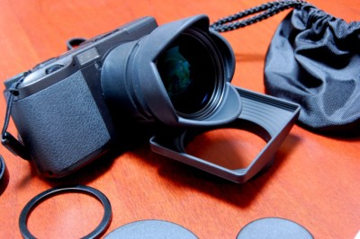 GR + ワイドコンバージョンレンズ GW-1 + フード&アダプター GH-1